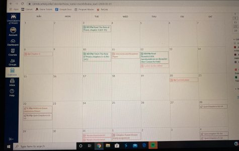 College schedule. As a college student, this is what an everyday schedule may look like, as some colleges send out the schedule monthly to give an idea on upcoming work. Students often get more projects and exams then actual homework.
