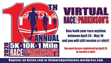 "Online Race. The 10th race for Parkinson's is being held online this year. Participants can complete their own race individually between April 25 - May 10. ""[I participate for] bringing awareness to Parkinson's and getting some exercise at the same time,"" Race for Parkinson's participant Katie Vranicar said."