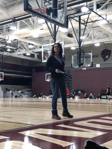 "Last Day. BHS gym teacher Sherry Yancey is wrapping up her last day at work before her procedure. Her students were sad to see her leave. ""[Gym class will be] more sad just because she's not there to motivate everyone,"" BHS sophomore Dominic Jochim said."