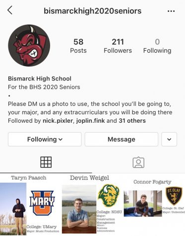 "Bringing the seniors together. BHS senior Natalie Schuh continues to add to the Instagram page as more people wish to be represented. She felt that during a time of isolation, students could still connect with each other through this page. ""I thought since we weren't at school, it'd be cool to recognize my classmates since no one really knew much about us from school,"" Schuh said."