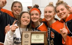 """6-Peat. The Bismarck Blizzard captured their sixth consecutive state championship in February. Despite her knee injury, senior Noelle Martin was still a big part of the team during their title run. """"Noelle is a great teammate and a great person,"""" Bismarck Blizzard Head Coach Tim Meyer said. """"I don't know anyone who doesn't get along with Noelle. She has a lot of leadership qualities that her teammates look up to."""""""