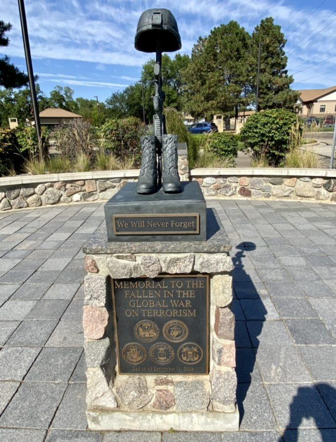 Memorial to the fallen in the global war on terrorism, located near Fraine Barracks, Bismarck, North Dakota.